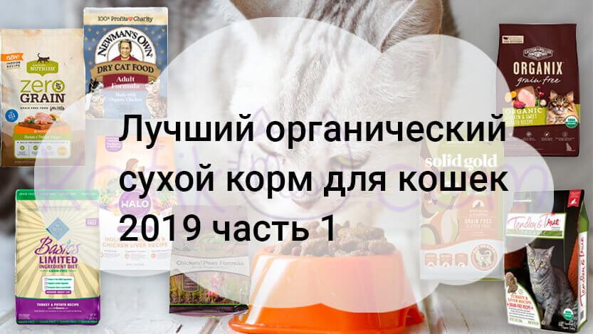 Лучший органический сухой корм для кошек 2019 часть 1