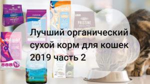Лучший органический сухой корм для кошек 2019 часть 2