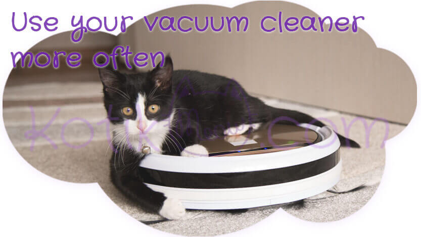Use your vacuum cleaner more often