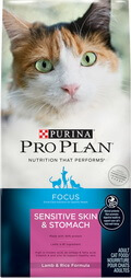 Purina Pro Plan Focus Sensitive Skin and Stomach Adult Dry Cat Food