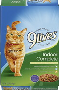9 Lives Indoor Complete with Chicken and Salmon Flavor Dry Cat Food